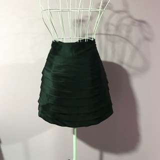 Jigsaw Designer Black Satin Skirt - Size 8