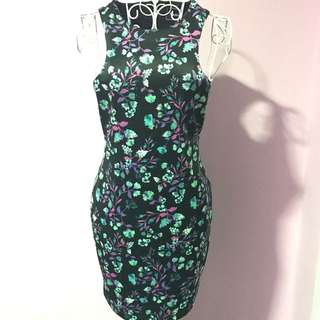 Nookie Designer Floral Dress - Size 8