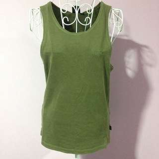 Mossimo Khaki Singlet / Tank Top - Size Medium