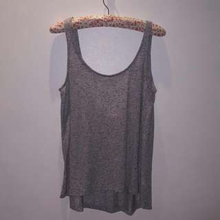 H&M Oversized Gray Sleeveless Shirt - Sz S