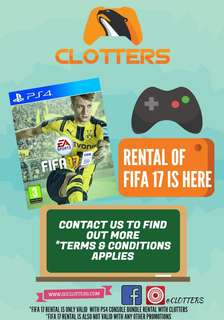 (Rental Services) Fifa 17 on PS4