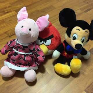 Angry Bird Soft Toy/ Mickey Mouse/ Disney Piglet Soft Toy