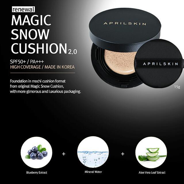 (Free Shipping) 2.0 April Skin Magic Snow Cushion