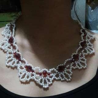 Necklace Beads And Swarovski