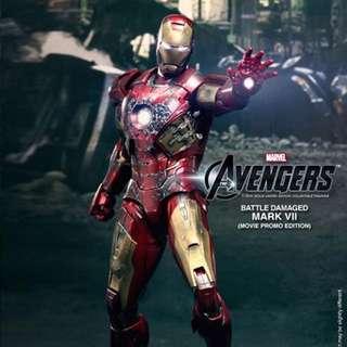 Hot Toys Exclusive Mark7 Avengers Battle Damage