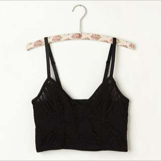 Free People Cropped Lace Bra Top