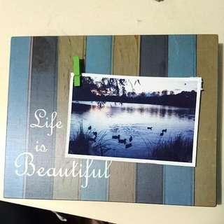 裝飾相片木板 Photo Board/Decoration (Not a frame 不是相架)
