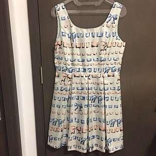 Casual Dress Ribbon Prints