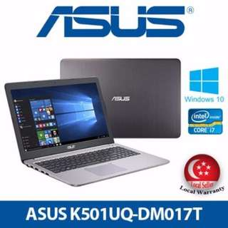 [BRAND NEW SEALED] Asus K501UQ-DM017T Laptop 2 Years Warranty