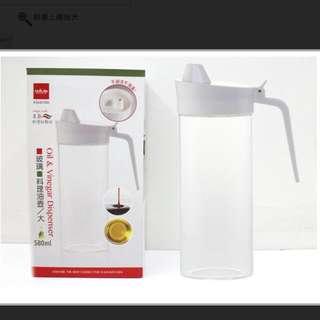UdiLife【K3640-580】 美廚.玻璃料理油壺.580ml 大