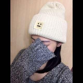 •_•小臉毛帽-實戴照片