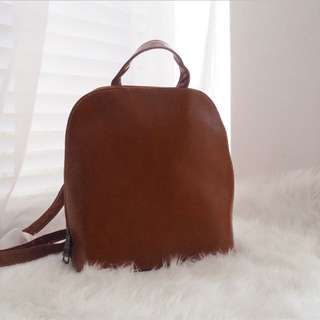 Bambi Faux Leather Backpack