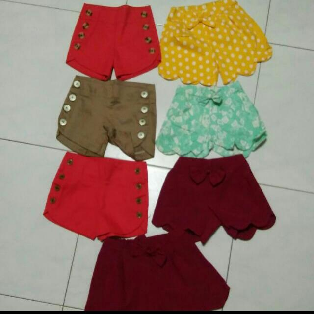 7pcs Kiddy Shorts