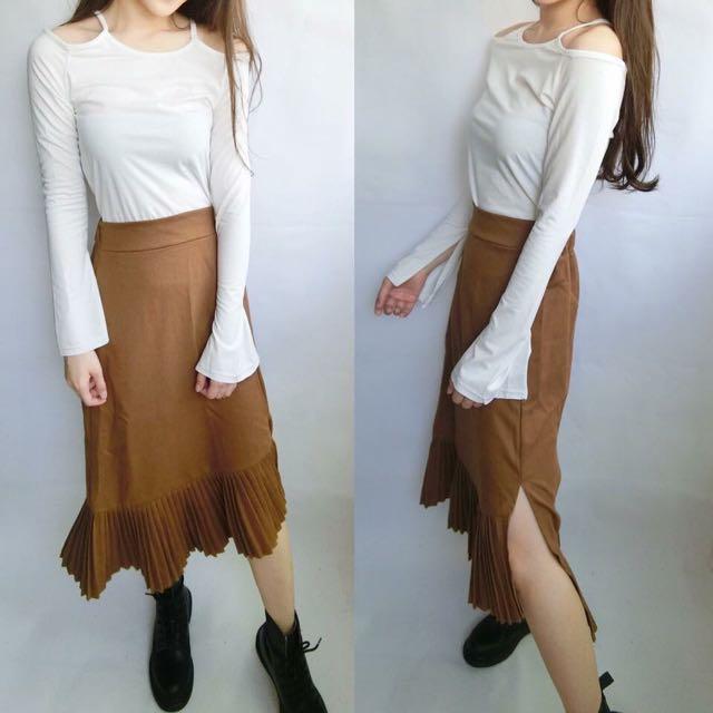韓版魚尾剪裁裙