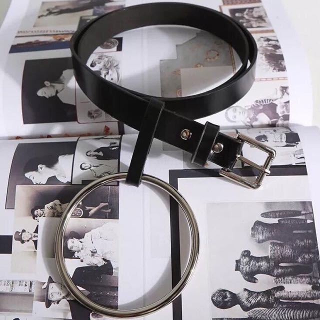 個性大圓環皮帶