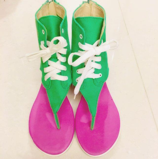 日本品牌造型內增高涼鞋