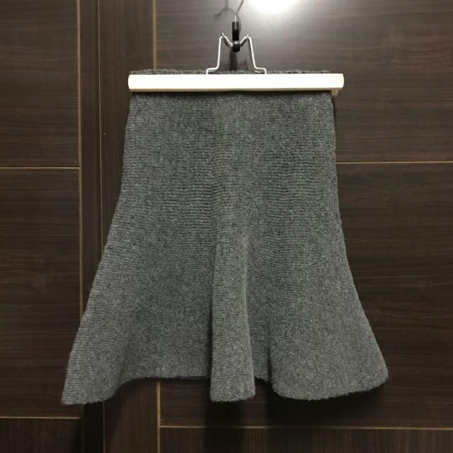 全新僅試穿 針織 鬆緊帶 灰色 裙