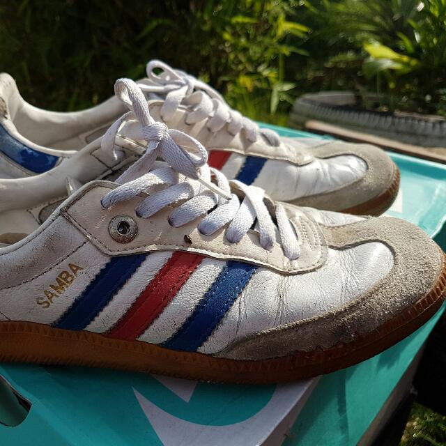 Adidas Samba Blue Red Stripe 1e7715e62