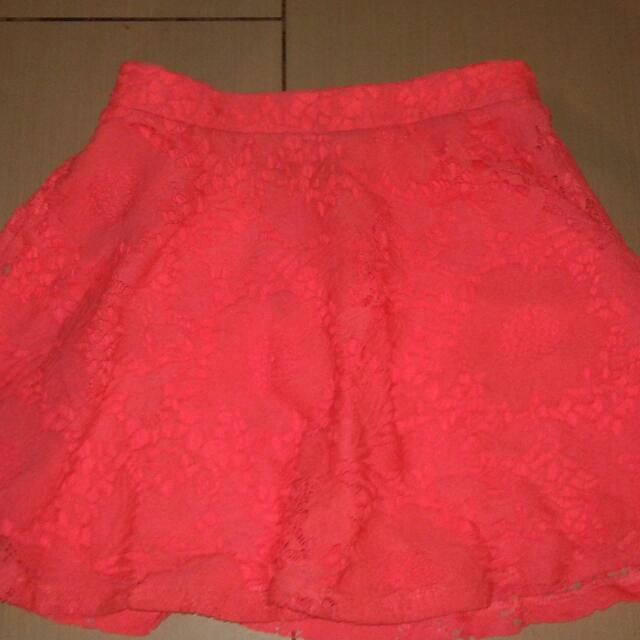 Areopostale Pink Neon Mini Skirt