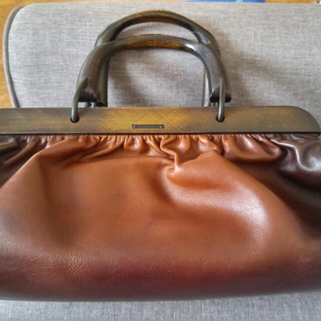 Authentic Gucci Bamboo Hand Leather Boston Hand