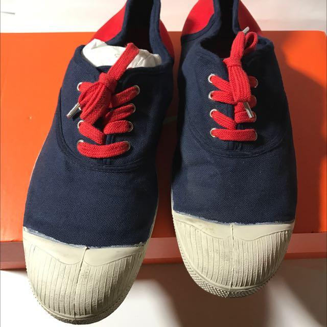 BENSIMON 法國 雙色 帆布鞋 40號  二手