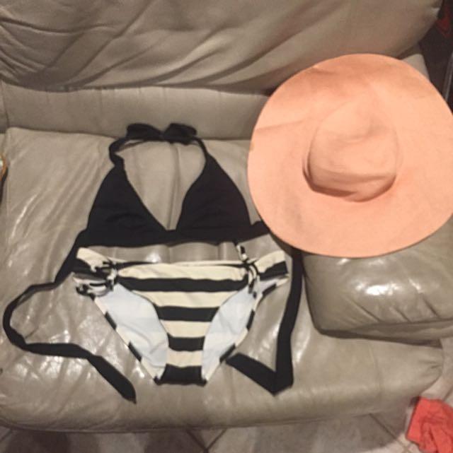 Bikini Set And Pink Hat