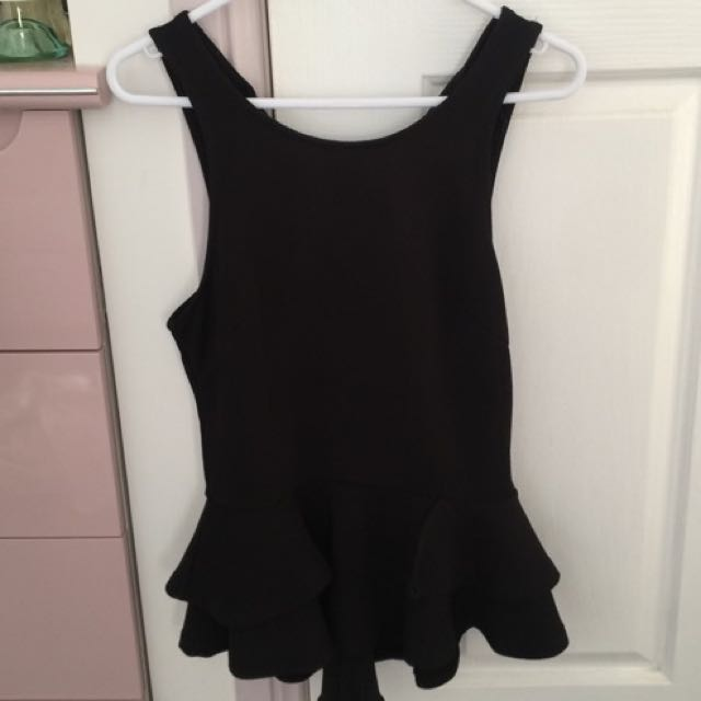 Black Corporate Top (Size 8)