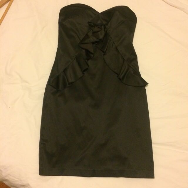 Black Satin Dress  Size 38