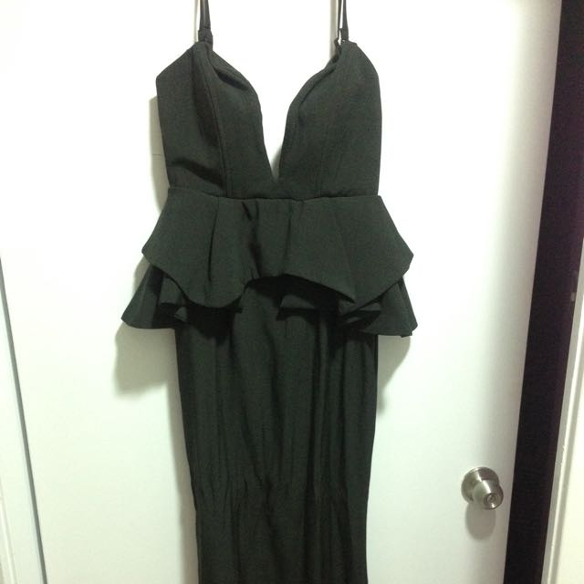 Black Evening Long Dress - Size 8 - New With Tags