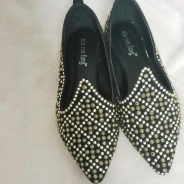 black shoes with sparkles