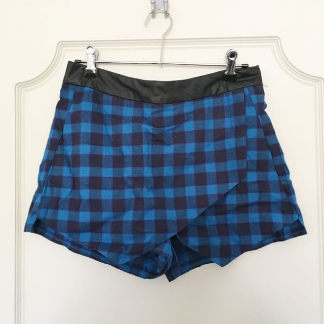Blue Plaid Skort