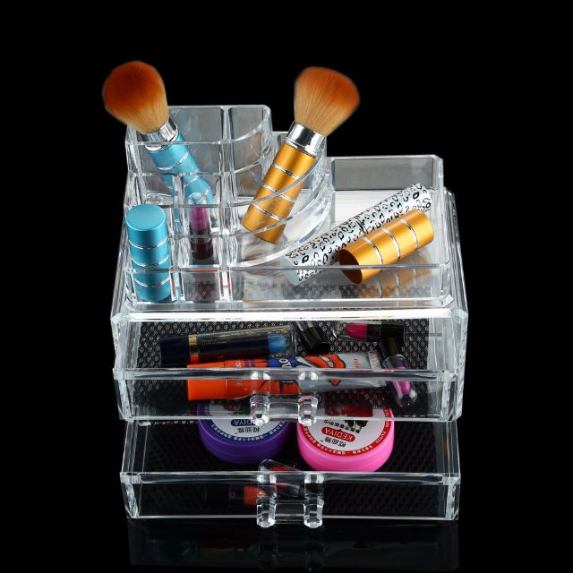 Clear Acrylic Crystal Jewelry Chest Case With Drawers Christmas