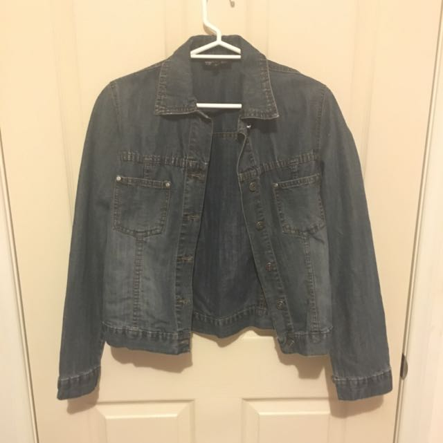 Contrast Jeans Denim Jacket