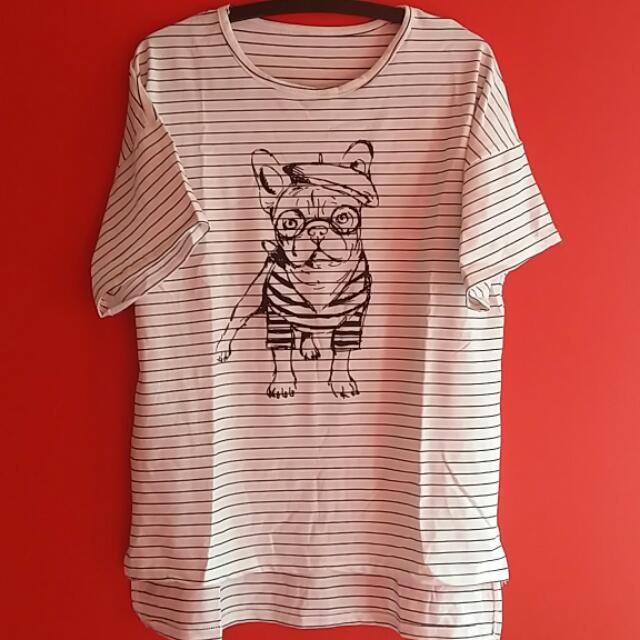 Cool Bulldog Pattern T-Shirt