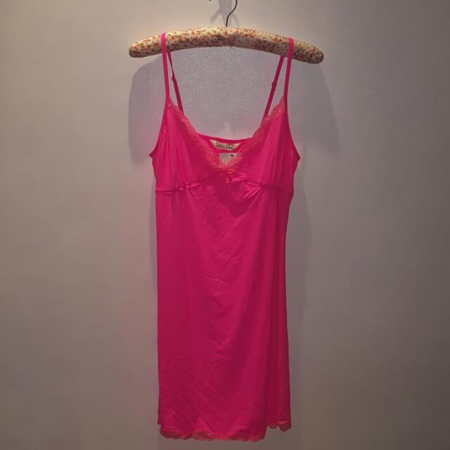 Cotton On Body Pink Slip Dress - Sz L
