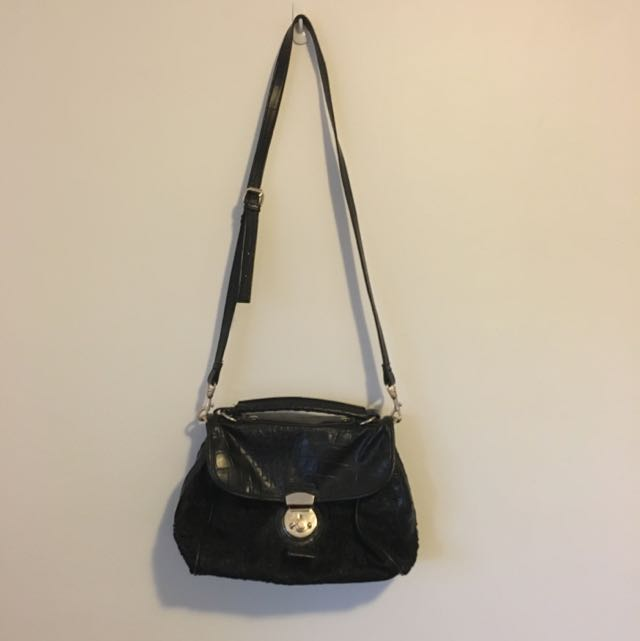 Cross Body Bag With Lace Detail