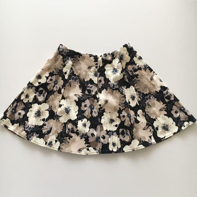 Cute Floral Skater Skirt