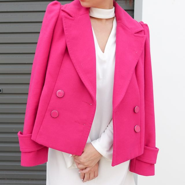 Forever New Pink Coat