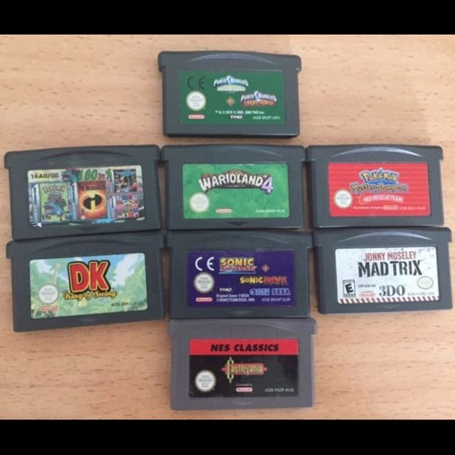 Gameboy Games Game Cards