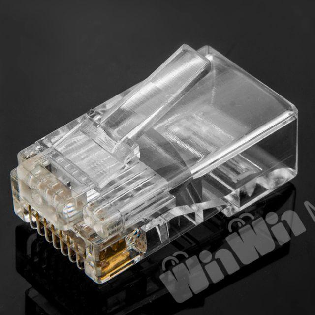 【GoMart】RJ45水晶頭 鍍金銅片 Cat 5e 網路接頭 8P8C 網路線 水晶接頭
