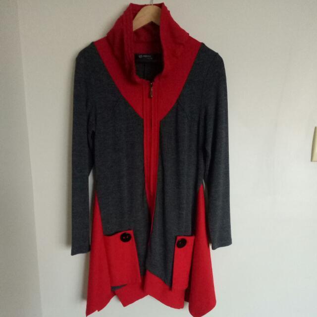 Grey & Red Jacket/dress
