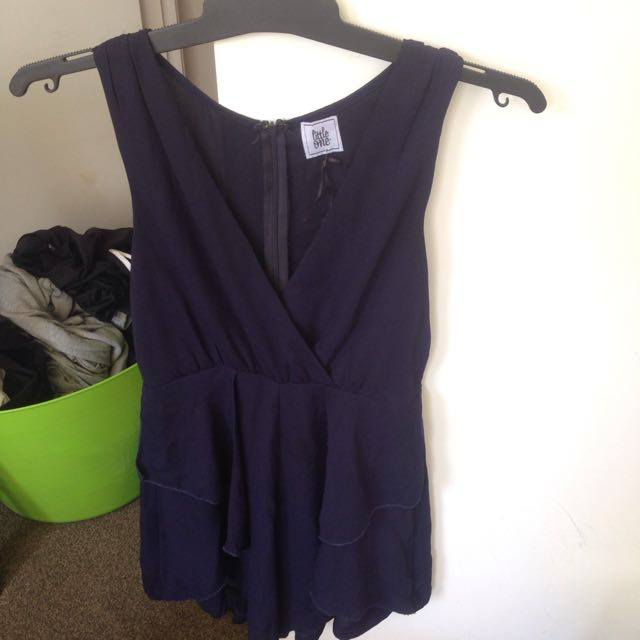 Little One Navy Summer Playsuit