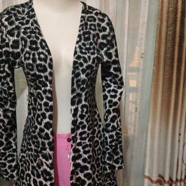 Reprice Cardi Leopard