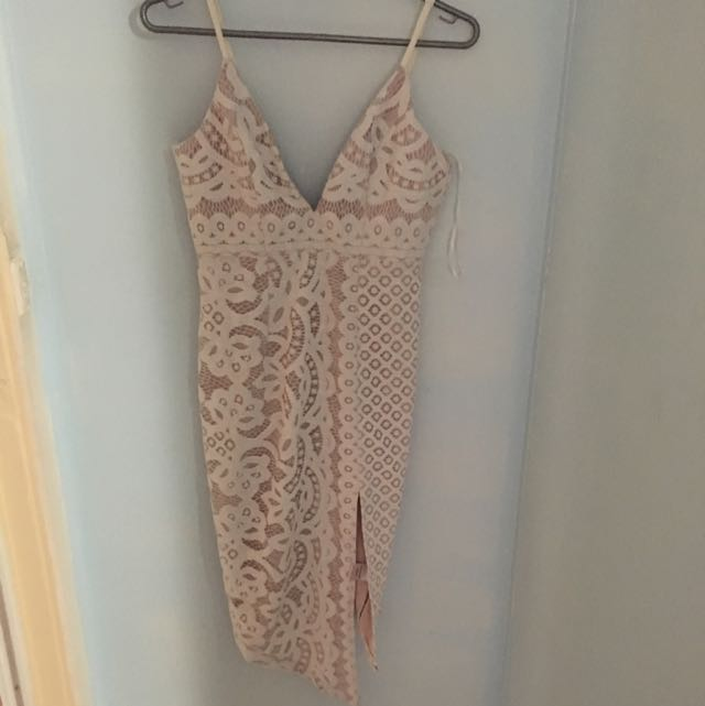 Lucy Angled Lace Dress