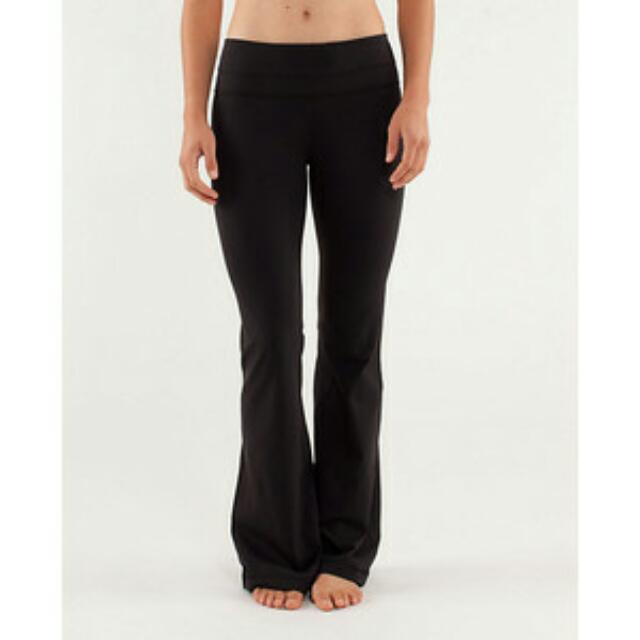 Lululemon Groove Pants Black Sz4
