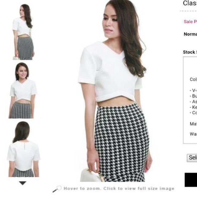 ccef363fd55 MDS Crop Top (White), Women's Fashion, Clothes, Tops on Carousell