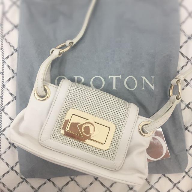 Oroton Ivory Logo Maille Mini Bag