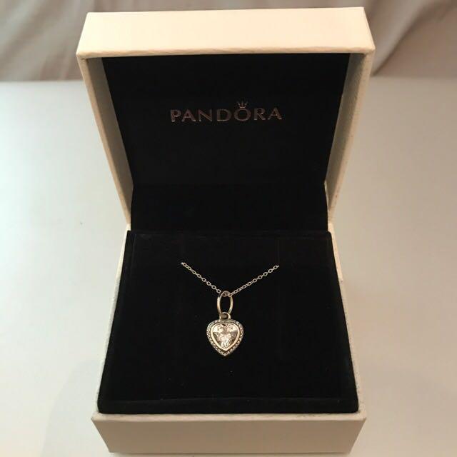 Pandora Sparkling Love Necklace