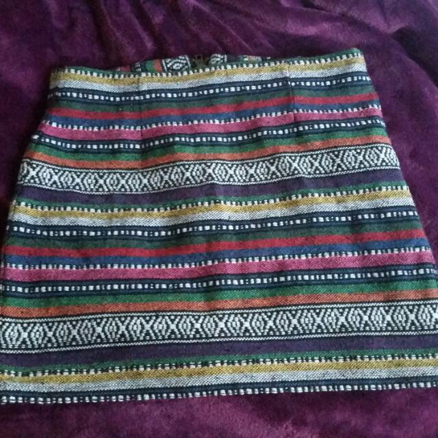 Patterned Skirt Size 10