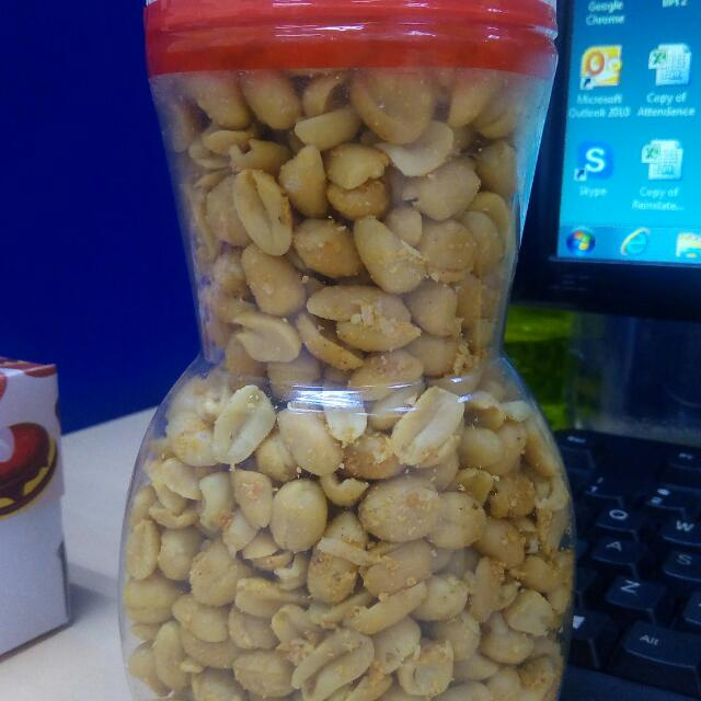 PEANUTS Available In; Hot And Spicy Garlic Adobo Crispy Dilis Crispy Pusit Sweet Cashew